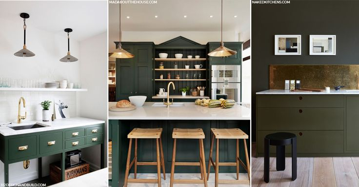 Whether it's dark grey or dark blue, there's no dying that dark kitchens have made a serious comeback. This year our passion for dark interiors is bolder than ever. Because if you're in the market for a new kitchen and are really following the trends then dark green is the statement colour you'll be going all-out for.