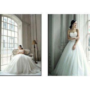 ウェディングドレス 二次会 結婚式 花嫁 衣装 Aライン 編み上げ ビスチェ(hs0009)