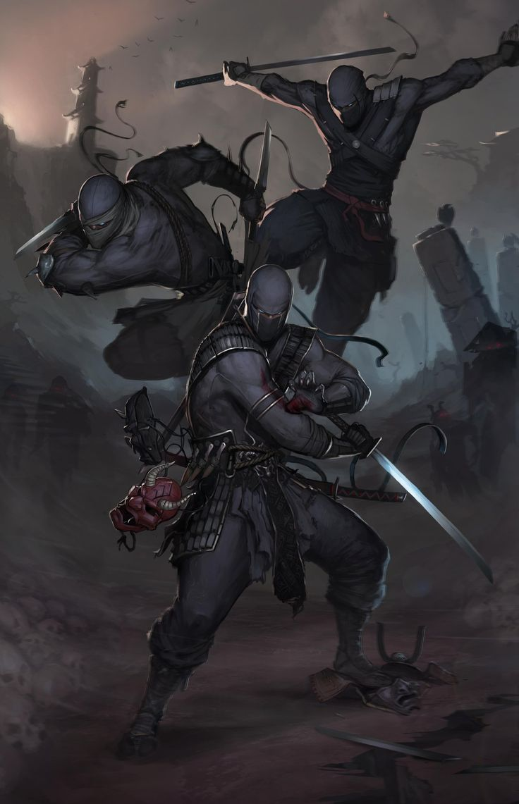 Ninjas by Afrocream monster beast creature animal   Create your own roleplaying game material w/ RPG Bard: www.rpgbard.com   Writing inspiration for Dungeons and Dragons DND D&D Pathfinder PFRPG Warhammer 40k Star Wars Shadowrun Call of Cthulhu Lord of the Rings LoTR + d20 fantasy science fiction scifi horror design   Not Trusty Sword art: click artwork for source