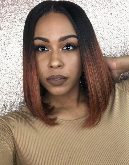 Erica - MALAYSIAN OMBRE STRAIGHT BOB LACE FRONT WIG - LFW010 [LFW010