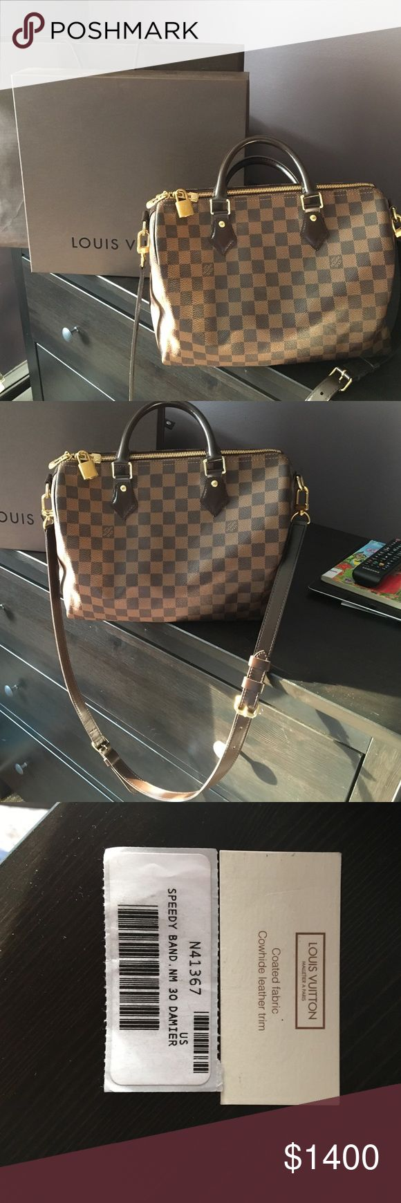 Louis Vuitton Speedy 30 Bandouliere Used Three Times, Box And Bag, No Scratches, No Signs Of Usage Louis Vuitton Bags Satchels