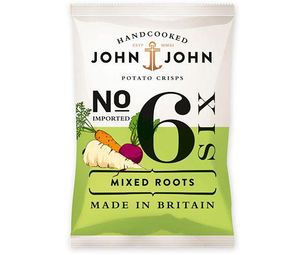 John & John potato crisps // mixed roots