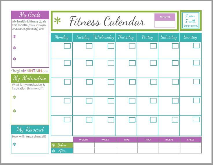 69 best Beachbody Workout Calendars \/ Programs images on Pinterest - workout calendar