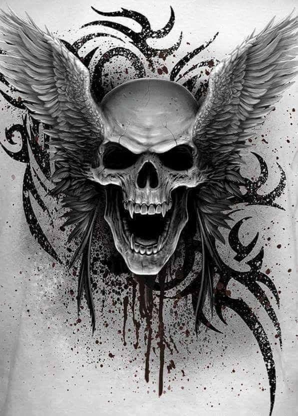 Pin By Carla Wright On Tattoo Skull Artwork Vampire Skull Skulls Drawing