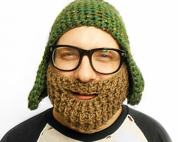 The Beard Face Warmer in Dirty BlondeLight by WithLoveFromLucille, $25.00