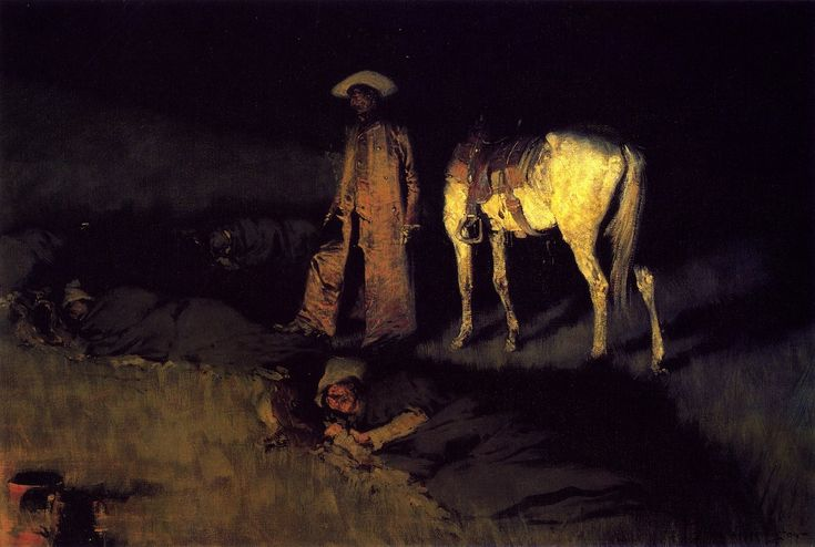 Frederic Remington - 1908, in from the night herd