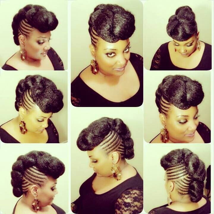 Faux Twist Mohawk natural updo hairstyles