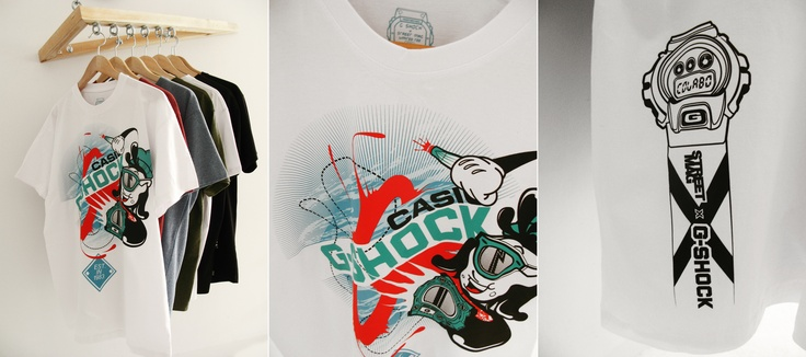 G-SHOCK x STREETMAG collabo limited tee.