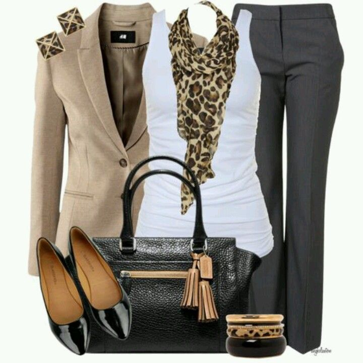 Animal print + business causal = business chic