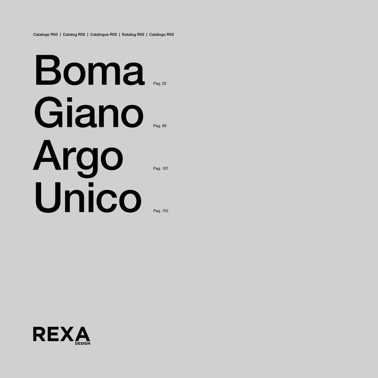 RexaDesign - cat. Boma-Giano-Argo-Unico