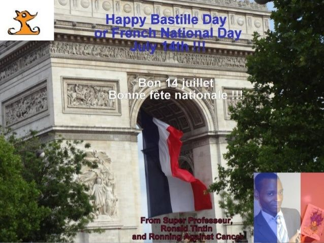 "Today is Friday 14 July 2017 and we celebrate Bastille Day or French National Day (July 14). The Storming of the Bastille (July 14, 1789).""Fête de la Fédération"" (July 14, 1790).  Happy Bastille Day or French National Day (July 14) ""Fête de la Fédération"" !!!  From Ronald Tintin, Super Professeur, Ronning Against Cancer, Le Journal Intime de Sublima  Bon 14 juillet 2017 !! Bonne fête nationale  à la France !!  http://www.superprofesseur.com/294.html  #travel #BastilleDay #HappyBastilleDay…"