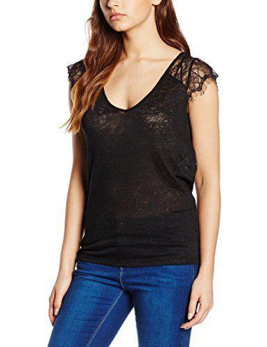 Naf Naf Overland, T-Shirt Femme^Femme, Noir (0625 Noir), FR: 40 (Taille Fabricant: L): Tweet