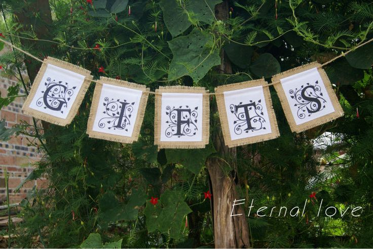 Gifts Burlap Canvas Banner