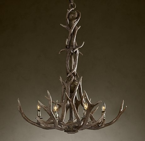 Antler Chandelier My husband the hunter would love this in our BEARROOM
