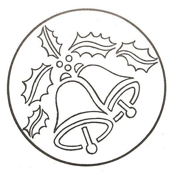 Рождественские колокольчики — вытынанки | Творим вместе с детьми ...