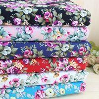 Одежда бязь печать жаккардовые материал этнические ткани для лоскутной ткани 100% хлопок вязать швейная ткани 1/4 метр роза ткань