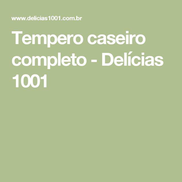 Tempero caseiro completo - Delícias 1001 | https://lomejordelaweb.es