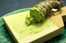 The colour of freshly grated wasabi...