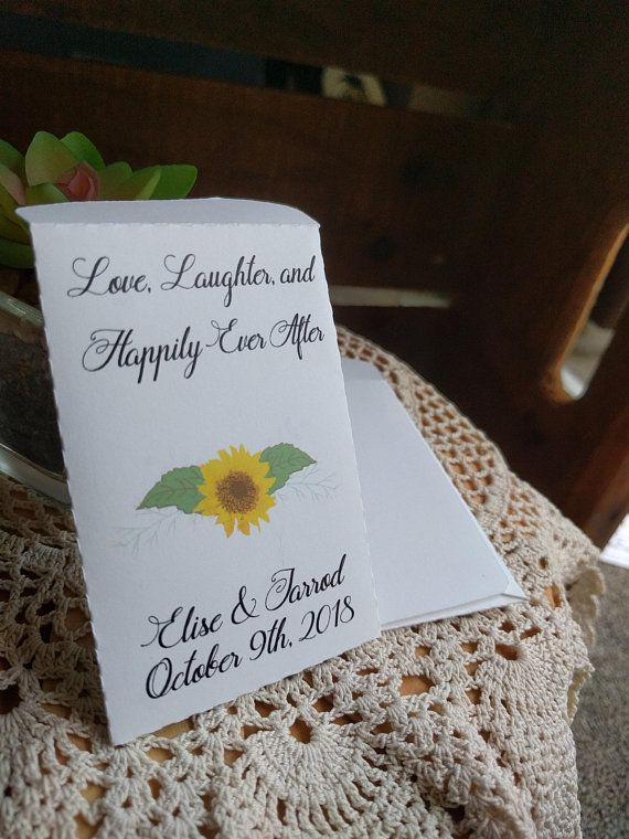 Sunflowers, PRINTABLE, Seed Packets, PDF, Template, Wedding Favours ...