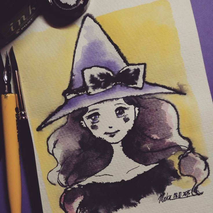 witch #mekaworks #inktober #drawing #halloween