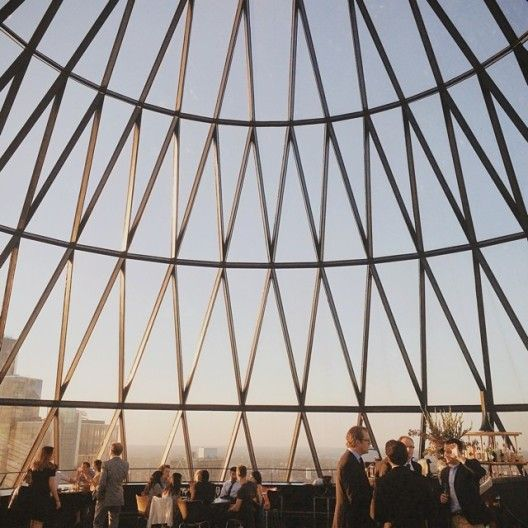 Rooftop bar at the Gherkin, London - photo by @tschang on Instagram.