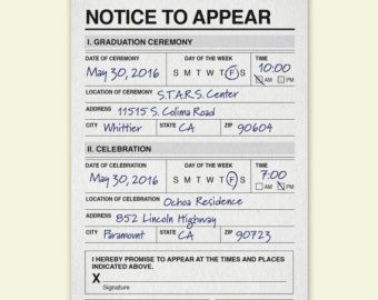 Police Citation Postcard Thank You Note by FreshBakedDesigns