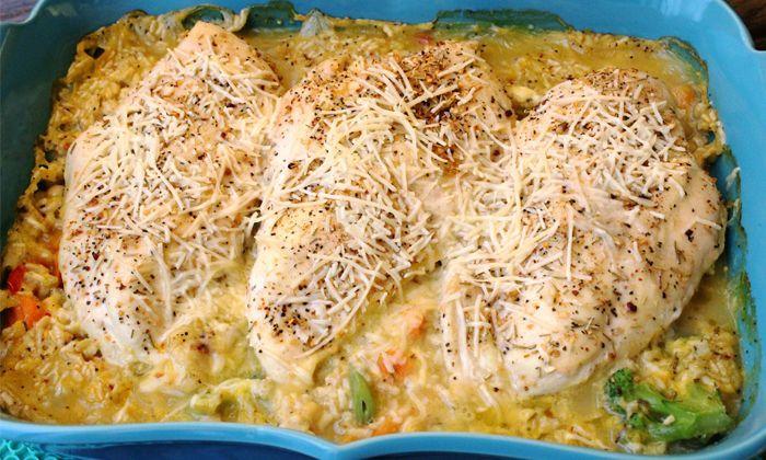 Skinny Rosemary Chicken and Brown Rice | luvskinny