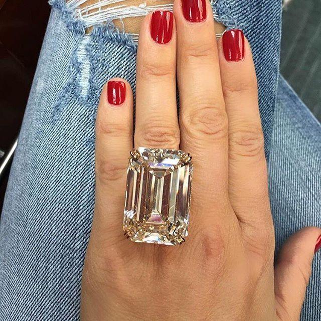 This 80 Carat Engagement Ring Puts Kim Kardashians