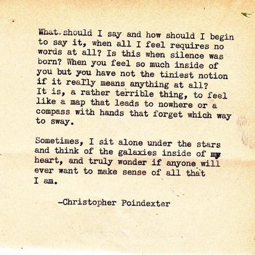 """Their tears were their love"" series poem #40, Christopher Poindexter."