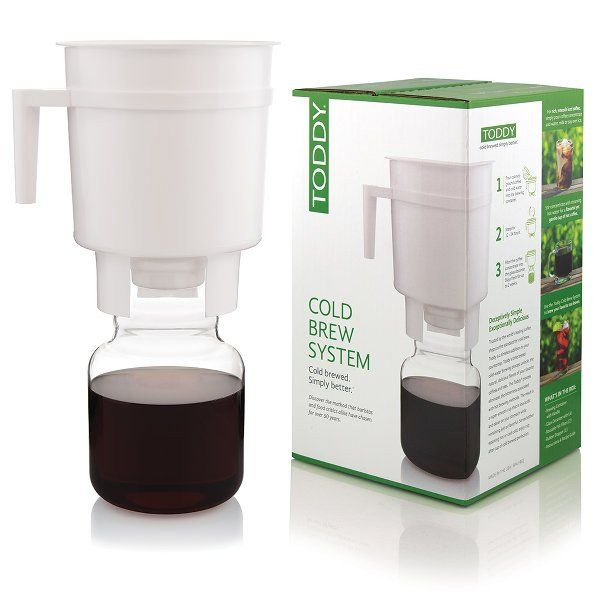 Buy a Toddy Cold Brew Coffee Maker to make batches of cold brewed coffee at home…