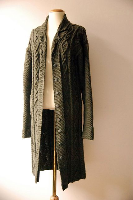 Moss Stitch & Cable Coat by Debbie Bliss