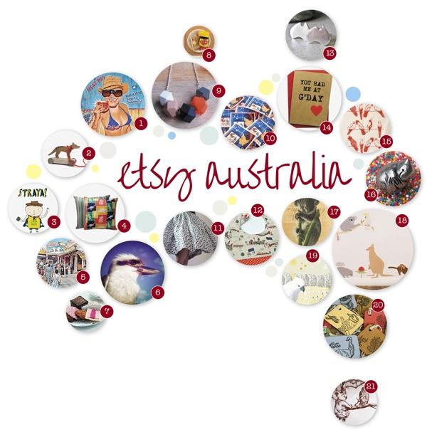 Australia Day finds on Etsy Australia.