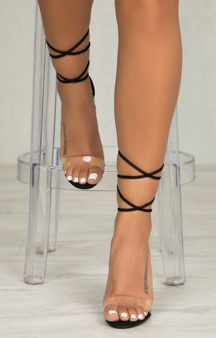 4d2e8a99132 NEW!!! Lovely clear strap black high heels sexy club wear or daily ...