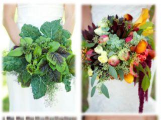5 fruits etlégumes par mariage ! Fruits and vegetables brides bouquet !