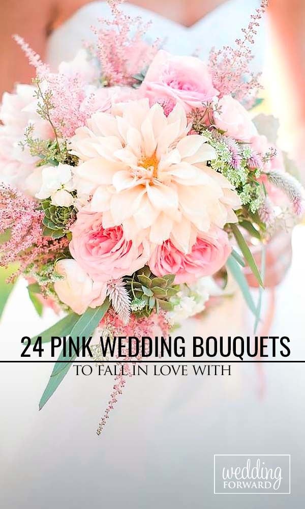 24 Soft Pink Wedding Bouquets To Fall In Love With ❤ These soft pink wedding bouquets could give you so much inspiration! See more: http://www.weddingforward.com/pink-wedding-bouquets/ #weddings #bouquets Photo: Katelyn James http://katelynjames.com/