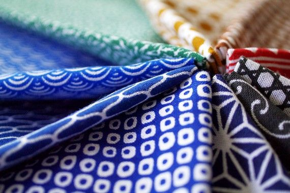 JAPANESE TENUGUI cotton fabric by karaku on Etsy, ¥1200