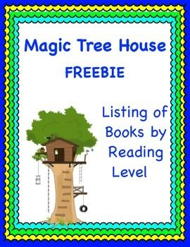 Magic Tree House: Reading Levels for Individual Books FREEBIE
