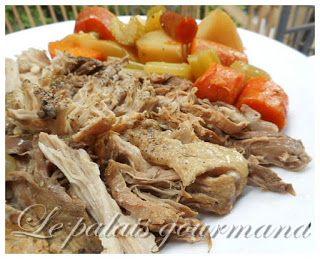 Le palais gourmand: Rôti de porc braisé aux oignons