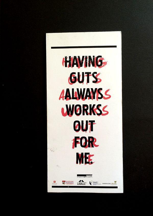 Best Film Posters : GUTS  Stefan Sagmeister on Behance