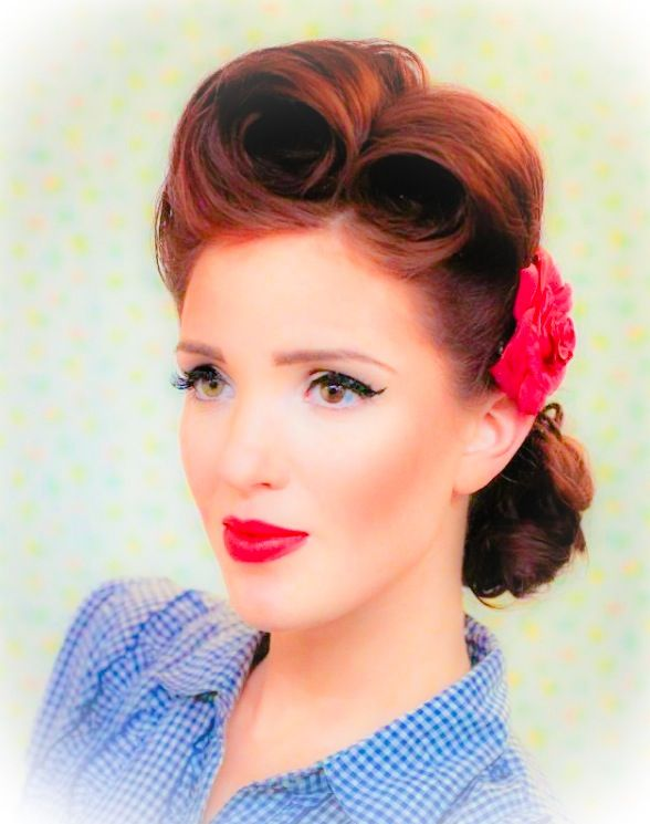 pintrest hair styles pinup hairstyles hairstyles 9126