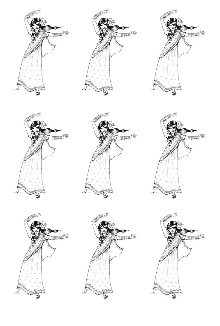 Coloring pages india - To Print This Free Coloring Page Coloring India Bollywood Danse