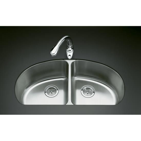 Kohler K 3148 Na Undertone Double Equal Undercounter Kitchen Sink In Stainless Steel