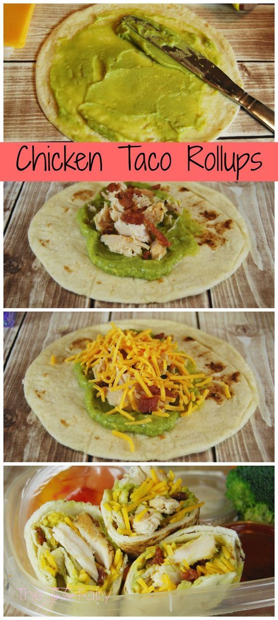 LUNCH BOX IDEAS – CHICKEN TACO ROLL UPS