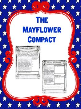 Free Mayflower Compact Reading Comprehension Worksheet                                                                                                                                                                                 More
