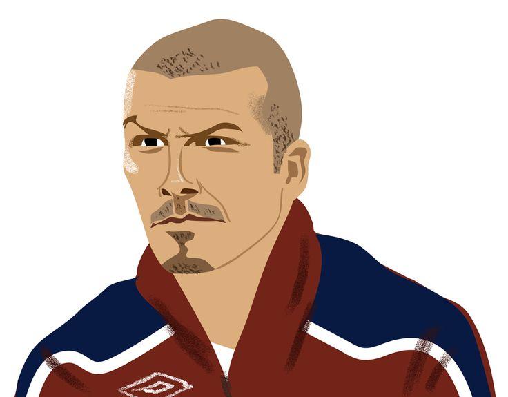 David Beckham(by Ben Kirchner, illustration for The Guardian)