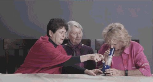 Dope grandmas smoke weed for the first time