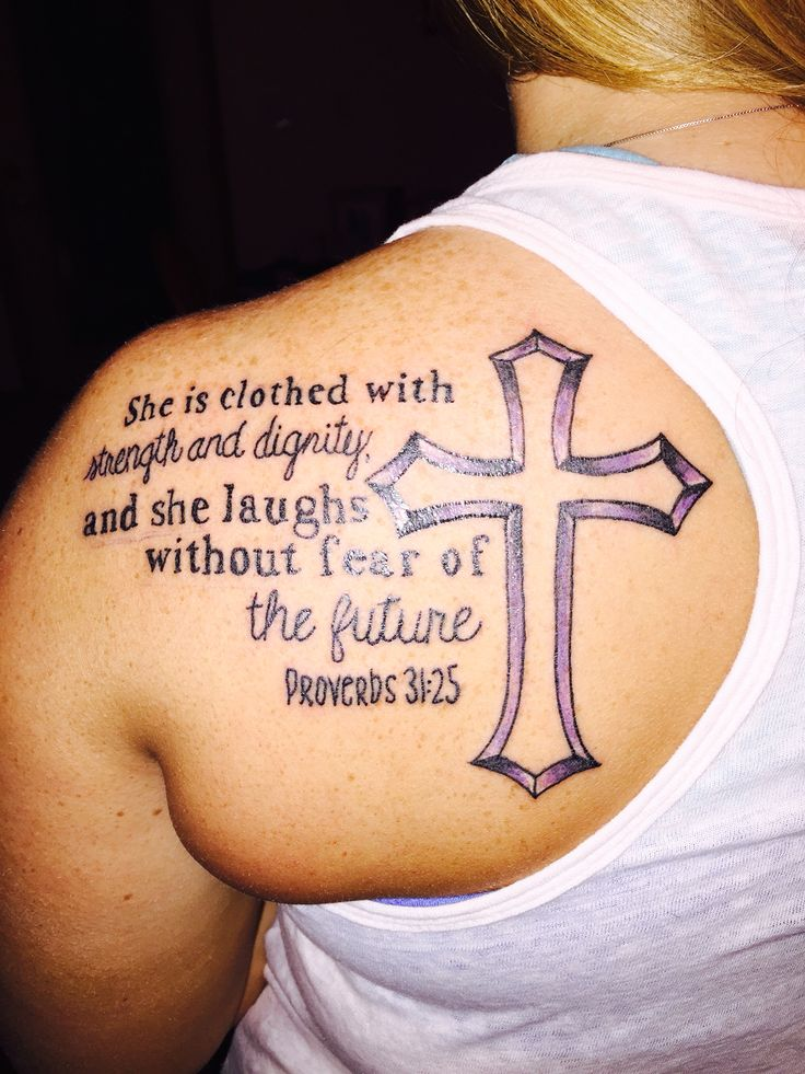 Proverbs 35 21 she is clothed with strength and dignity for She is clothed in strength and dignity tattoo