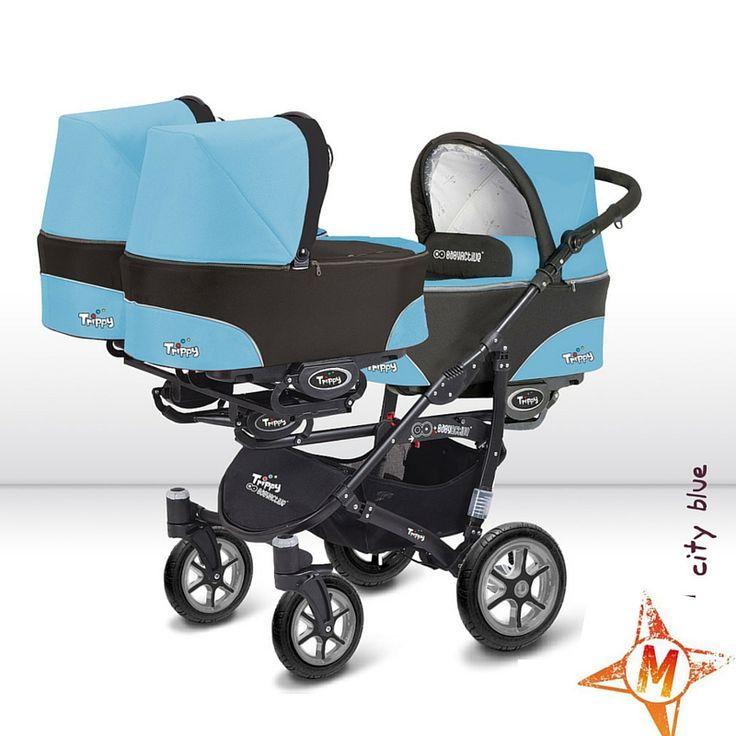 Cochecito de bebé todoterreno para gemelos, trillizos e individual