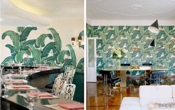 left the original wallpaper in the beverly hills hotel right martinique banana leaf wallpaper. Black Bedroom Furniture Sets. Home Design Ideas