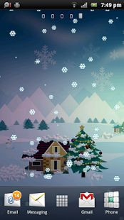 LIVE WALLPAPER CHRISTMAS  CHRISTMAS LIVE WALLPAPER MERRY CHRISTMAS LIVE WALLPAPER SNOW SNOWFALL FESTIVAL SANTA HOLIDAY WINTER CUT OUT SNOWMAN CHRISTMAS TREE SNOWFLAKES SCENERY ANIMATED